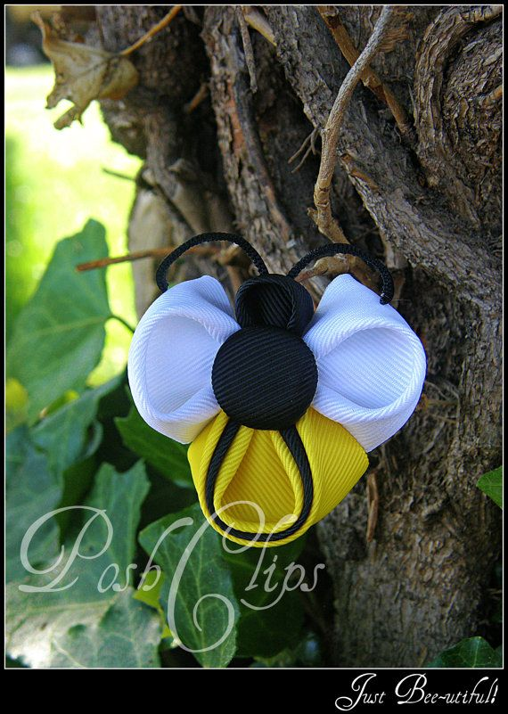 BEEutiful Bee by PoshClips on Etsy, $6.00
