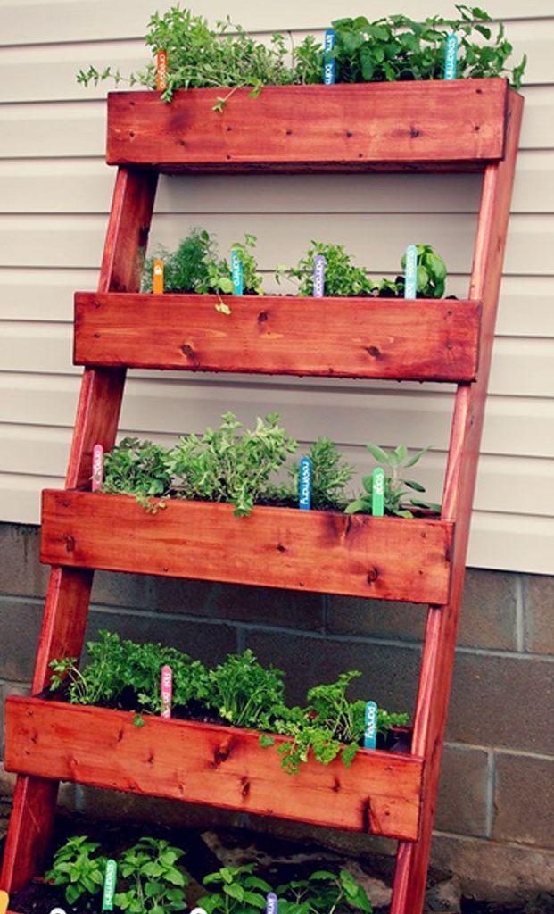 25 Fabulous Small Garden Designs Outdoor Gardens Design Small Garden Design Vertical Herb Garden