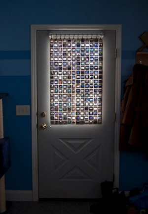 Recycle Old Photo Slides into a Colorful Privacy Screen: Upcycle3 Window, Sliding Ideas, Doors Windows Shutt, Pri Eye, Glasses Window, Window Coverings, Window Covers