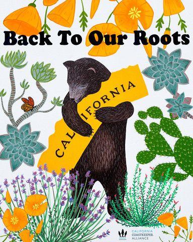 California Drought Awareness Print by Annie Galvin 3 Fish Studios