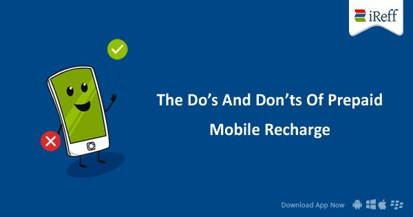 Here is the list of Do's And Don'ts Of Prepaid Mobile Recharge #PrepaidRecharge #Tips #OnlineRecharge