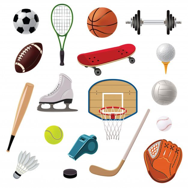 Download Sports Equipment Icons Set For Free