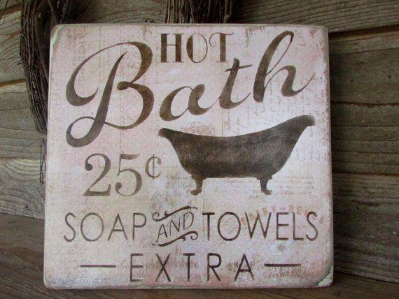 Bathroom décor, wood signs, country home décor, home décor, rustic signs,  primitive home décor