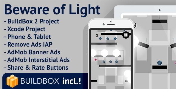 nice Beware of Light: iOS, Buildbox Integrated, Quick Reskin, AdMob Interstitial &amp Banner Advertisements, Take away Advertisements (Games)