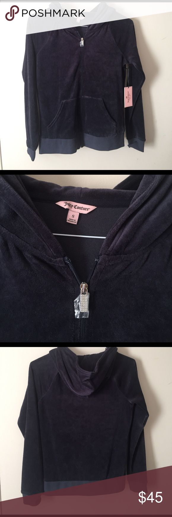 Navy Juicy Couture velour jacket Bundles available! Juicy Couture Jackets & Coats