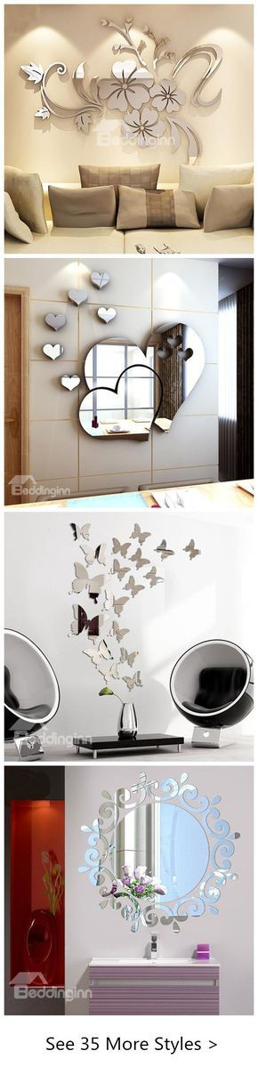 3D mirror wall stickers are more and more popular. They specialize in material and simplicity. On the one hand, acrylic is waterproof and eco-friendly. On the other hand, the mirror appearance can embody the use as a mirror, enlarging the room.