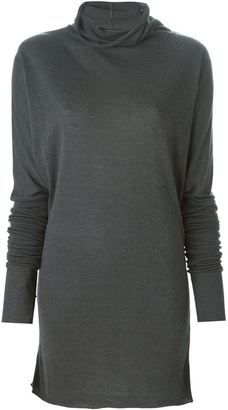 Rick Owens Lilies cowl neck sweater - Shop for women's Sweater - BLUE Sweater