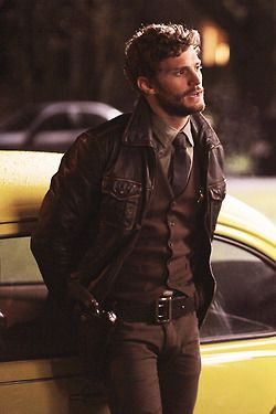 Jamie Dornan as Graham/The Huntsman - Once upon a time. Miss him and I am strangely fond of his jacket :3