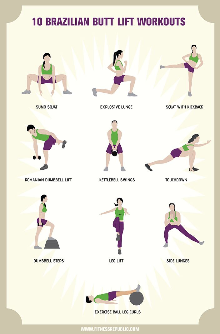 10 Brazilian Butt Lift Workouts
