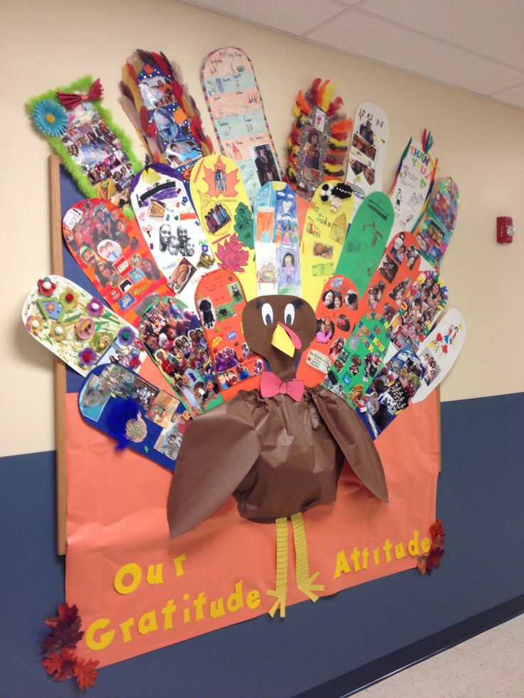 turkey bulletin board  we made gratitude feathers and the