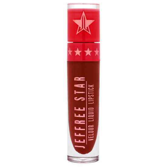 <p>Designer Blood, part of Jeffree Star's Limited Edition Holiday 2016 Collection, is a dark rusty red that is the PERFECT red for winter! Once dry, it has a gold sheen that moves with the light and makes it look like satin ribbon.</p> <p>Jeffree Star Velour Liquid Lipstick goes on opaque, dries completely matte and stays on for hours! This product is 100% vegan & cruelty-free!</p> <p>Beauty tip: Exfoliate then apply to bare lips!  Avoid food with oil.</p> <p>Paraben-free. Gluten-free.</...