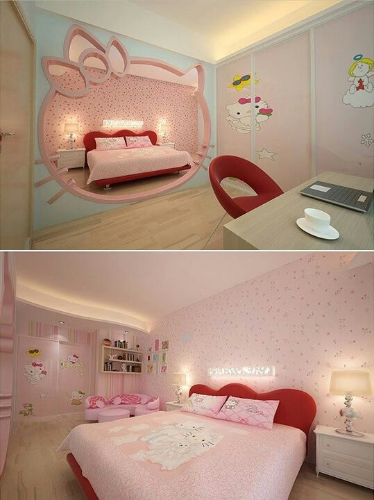 die besten 25 hello kitty zimmerdekor ideen auf pinterest. Black Bedroom Furniture Sets. Home Design Ideas