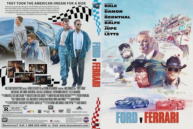 Ford V Ferrari Dvd Cover Dvd Covers Ferrari Dvd Cover Design