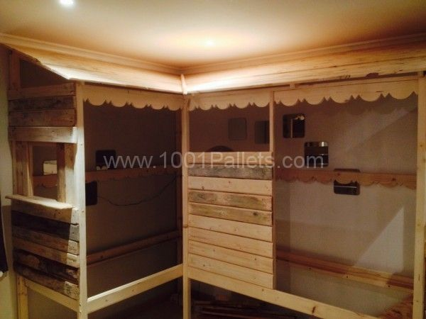 Pallet Twins beds.. Lovely idea as we have so many kids to accommodate and zero budget!