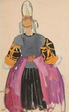 Bigoudène, Peinture de Mathurin Méheut