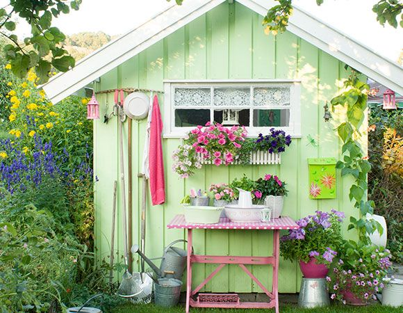 17 best images about she sheds woman cave on pinterest for Pretty garden sheds