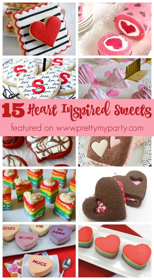 Here is a lovely compilation for 15 Heart-Inspired Desserts for Valentine's Day on prettymyparty - please click for the full list...x