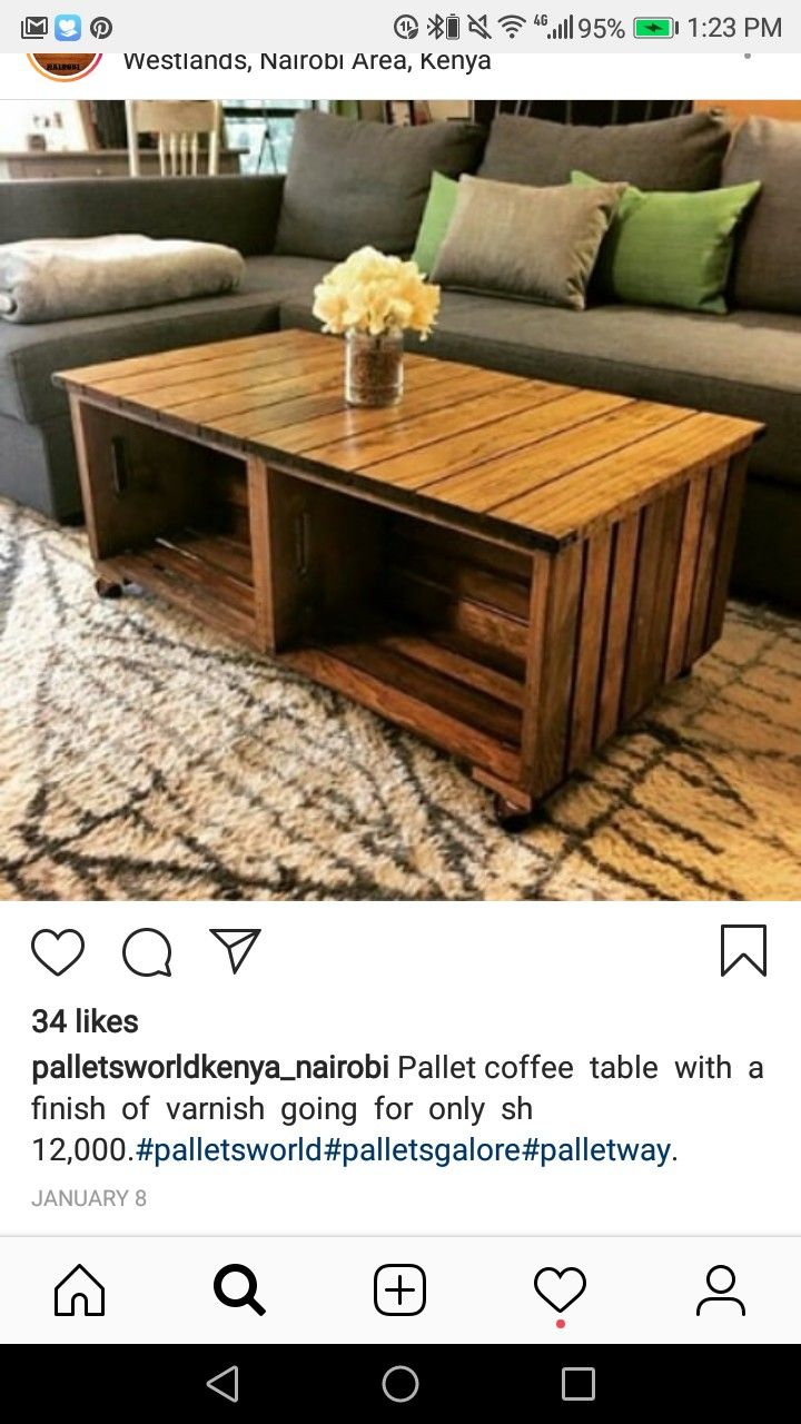 Pin By Serah Sarah On Bamburi Home Ideas Pallet Coffee Table Coffee Table Home Decor [ 1280 x 720 Pixel ]