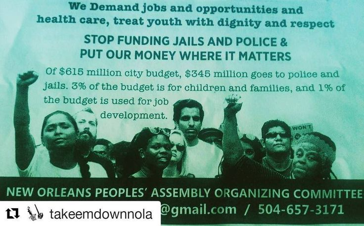 #Repost @takeemdownnola with @repostapp    There are many exciting updates to share about the work of building toward the Peoples Assembly!   Come to the next organizers meeting Saturday April 1st at 1:00 pm  Crescent City Boxing Gym- 3101 Erato StreetNOLA70125   DONATIONS ARE NEEDED RIGHT AWAY  Peoples Assembly NOLA   http://ift.tt/2nHQp2g   SATURDAY ORGANIZERS MEETING: We will absolutely be done by 4:00pm and not a minute over. We will cut the meeting short before we go over the time.   We…