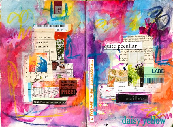 This post was originally shared in March 2011, almost 5 years ago with some vintage 2011 journal pages as a fun twist. I challenge you to break some of the confining rules you've accepted as truth... rules you've imposed upon your art journals. It will benefit your heart, your self, your art and your creative practice.