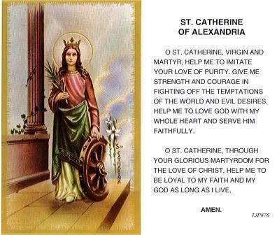 St. Catherine of Alexandria Laminate Holy Card