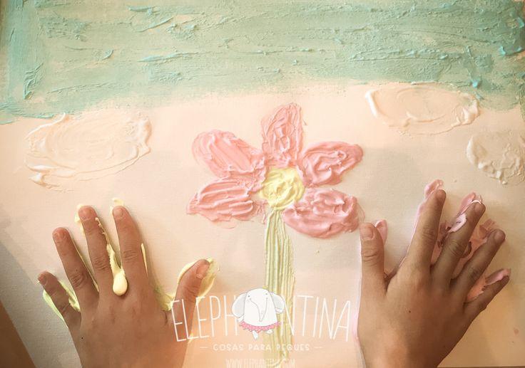 Pintura de espuma - Puffy paint, pintura hinchada o pintura de espuma #crear