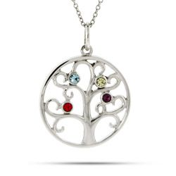 103 best birthstone necklaces images on pinterest birthstone 4 stone family tree necklace aloadofball Gallery