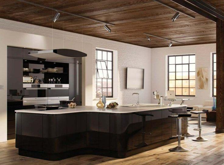 cuisine noire mat et cuisine noire et blanche 48