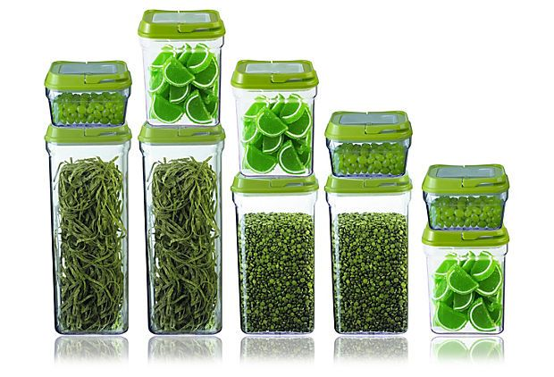 10-Pc Food Storage Containers, Green on OneKingsLane.com