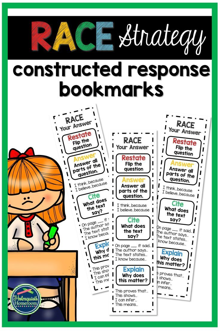 These Race Strategy Bookmarks Are A Great Way To Help Your Students Practice Their Const Constructed Response Reading Strategy Bookmarks Races Writing Strategy [ 1104 x 736 Pixel ]