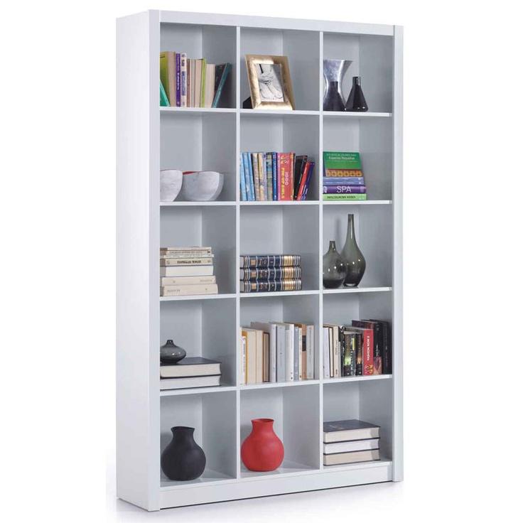Estantería 15 espacios color blanco RIZA  114x30x195 cm. 99€