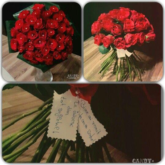 Buchet trandafiri rosii! www.buticulcuevenimente.ro