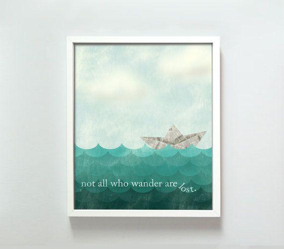 11x14 All Who Wander print