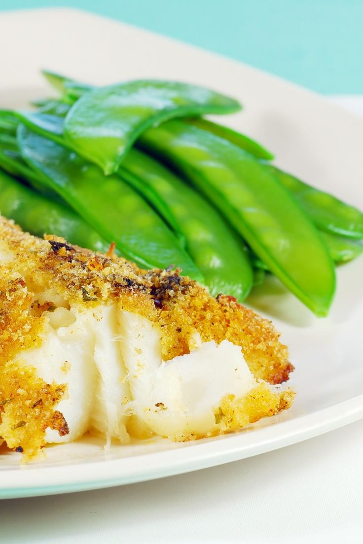 Weight Watchers Oven Fried Fish Recipe with Haddock or Tilapia, Cornmeal, Bread Crumbs, Dill, and Paprika - 5 WW SmartPoints