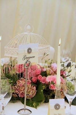 Vintage Pink Birdcage design