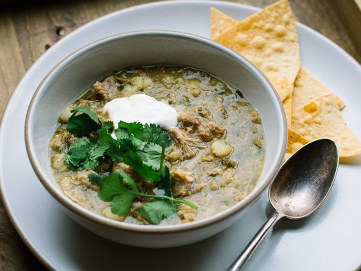 Mexican Hominy and Pork Tomatillo Soup