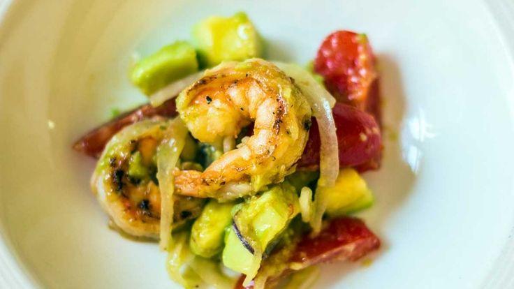 Insalata di gamberi e avocado, piatto di crostacei da abbinare a Cava Spagnolo