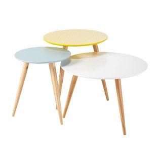 3 tables gigognes rondes vintage - Fjord