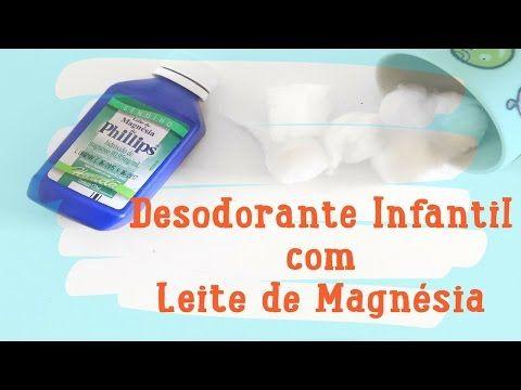 Como fazer desodorante infantil com Leite de Magnésia de Philips - YouTube