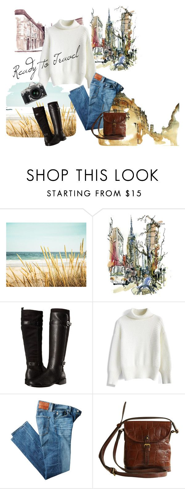 """Travelling"" by carplechun on Polyvore featuring Aerosoles, Chicwish, AG Adriano Goldschmied, Mulberry and Nikon"