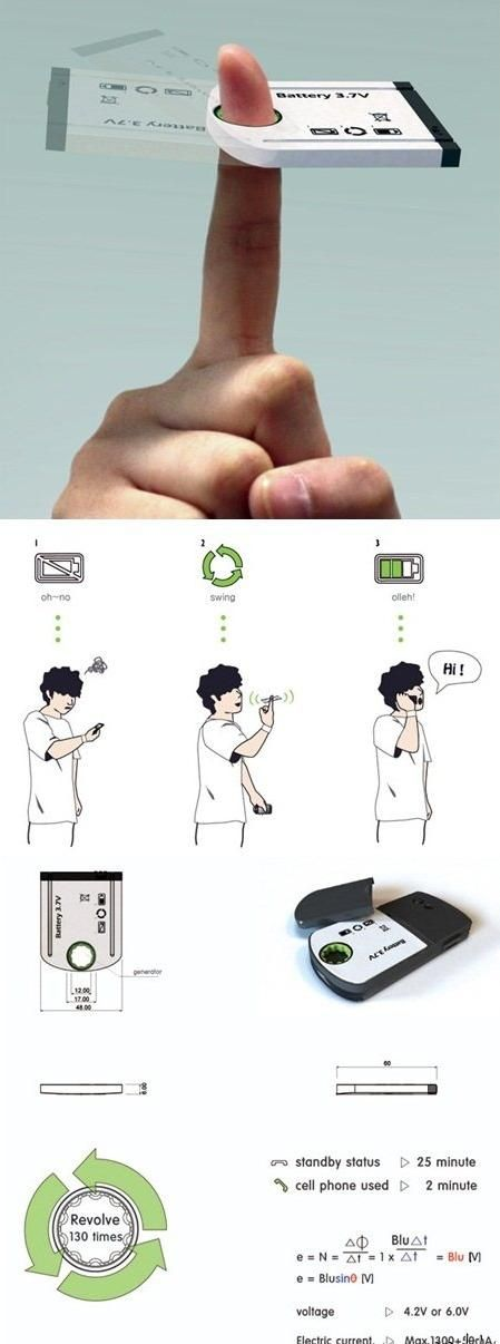 Free energy cell phone battery!