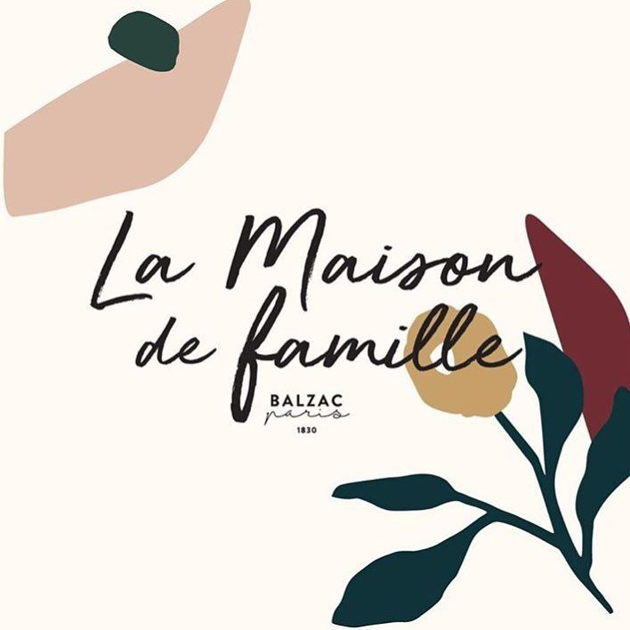 la maison de famille - hand lettering with abstract shapes