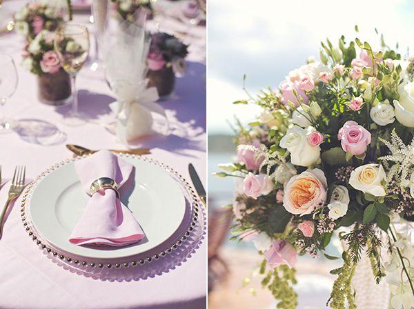 Luxurious style and blush pink wedding decoration by www.StyleConcept.gr  στολισμος-γαμου-david-austin-τριαντάφυλλα