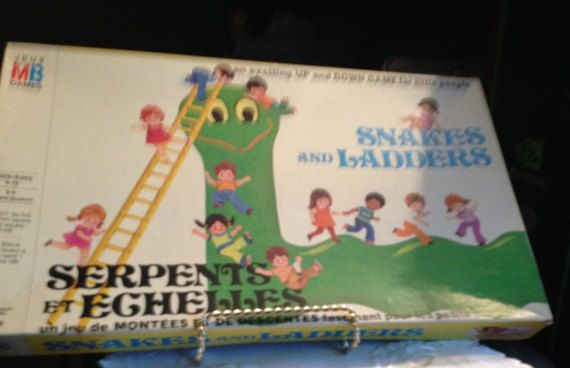 Super vintage c.1952 Original Snakes and Ladders by BuyfromGroovy