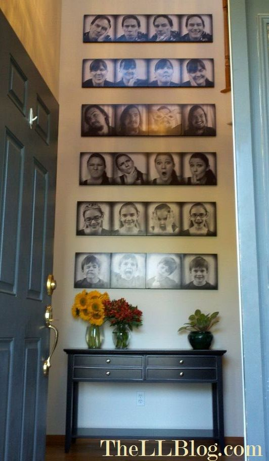 Funny Faces, Family Photo Wall | Last Legs Blog