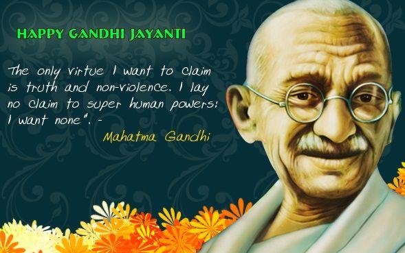 Gandhi Jayanti SMS   Free Download Gandhi Jayanti SMS