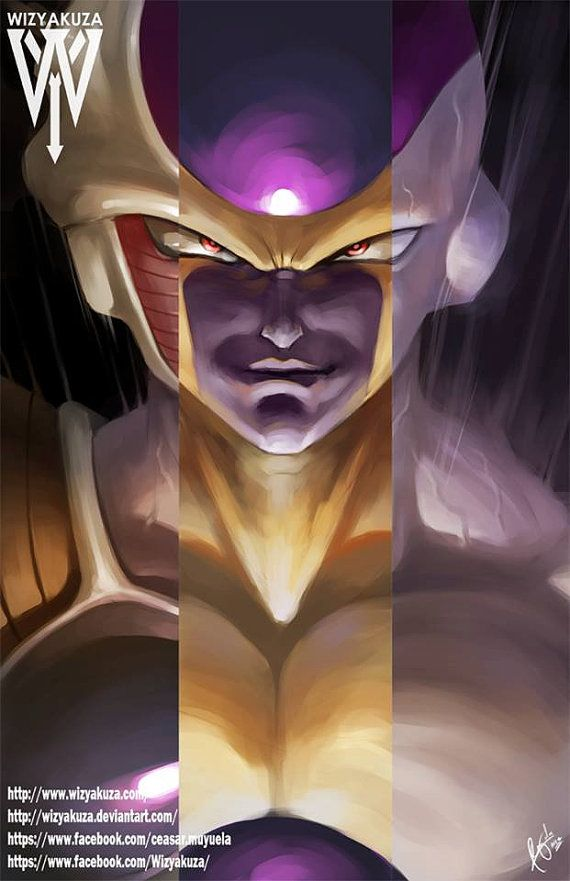 Frieza Dragon Ball Z Base Golden and Final Form by Wizyakuza- CLS