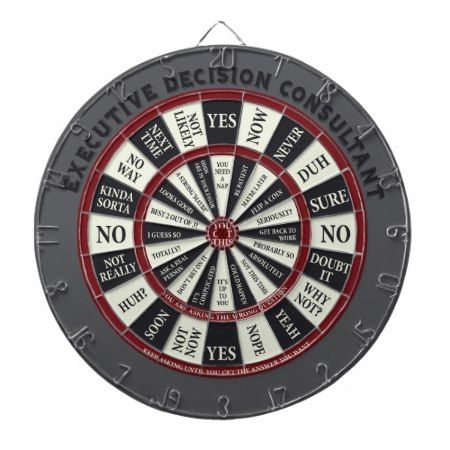 Executive Decision Consultant Dartboard - click to get yours right now!