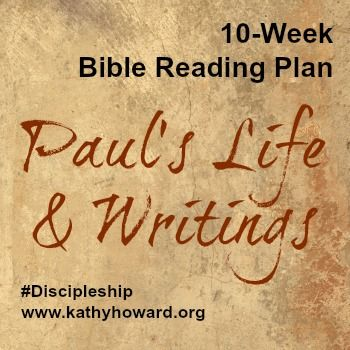 This 10-week Bible reading plan chronologically melds Paul's life and ministry with his letters. The plan includes 5 days of reading per week.