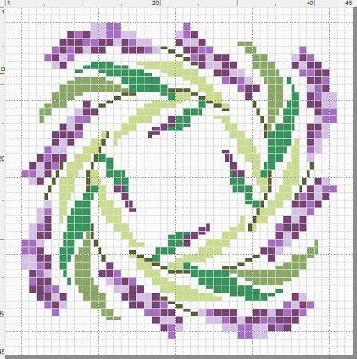 Sylvia´s: Lavendel-Biscornu